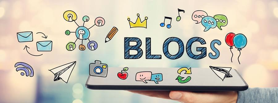 Banner anunciando los blogs del colegio.